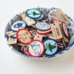 (2017夏のムーミン新商品)MOOMIN 刺繍キーホルダー。