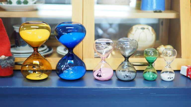 ムーミン砂時計の新しいデザインが登場しました。