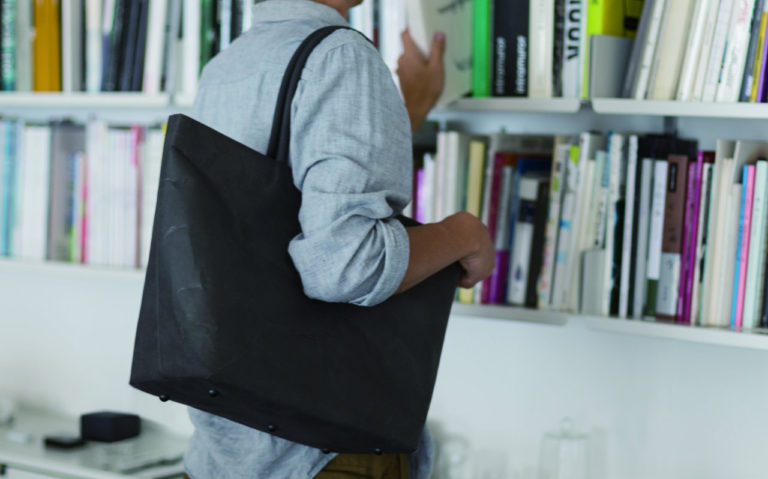 SIWA | 紙和 トートバッグ ファスナー付き
