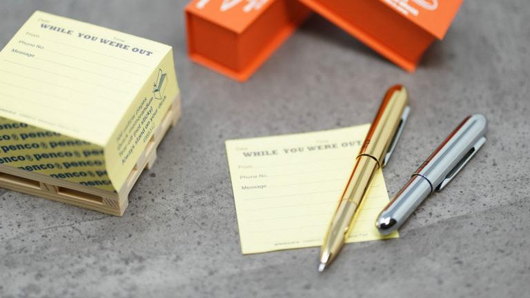 コンパクトな真鍮削り出しボディ「PENCO バレットボールペン」
