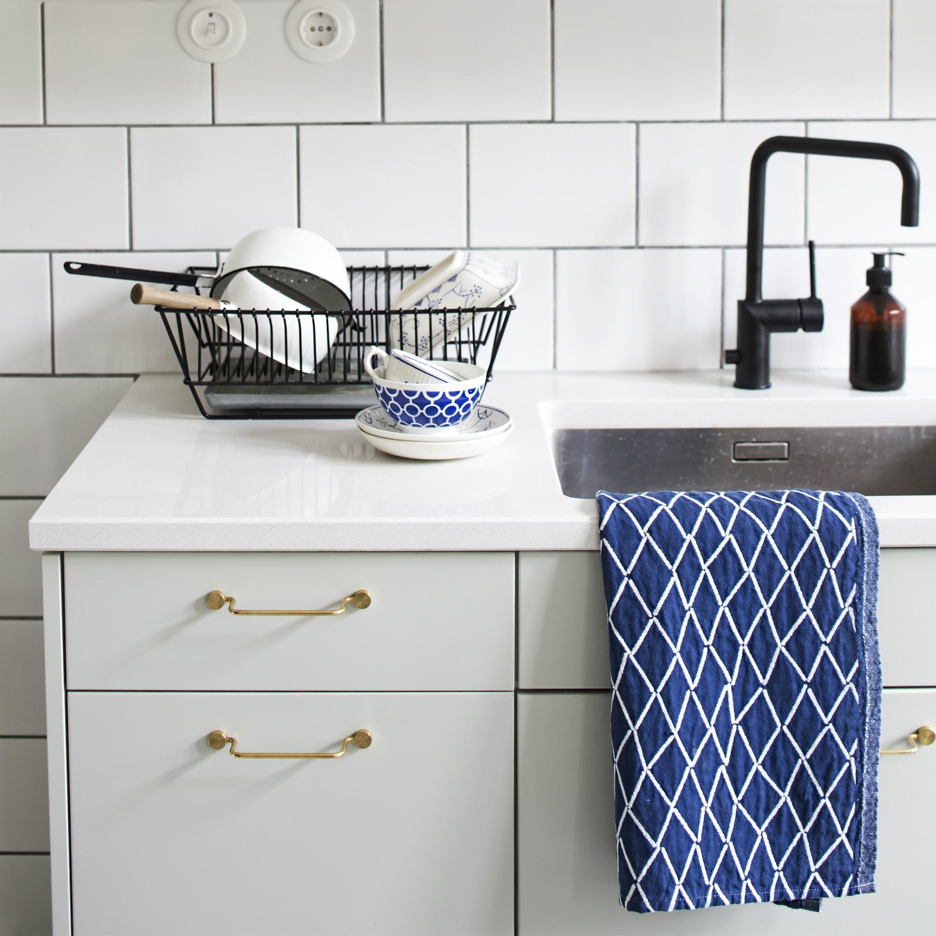 ESKIMO towel / white-blueberry(LAPUAN KANKURIT ラプランカンクリ)