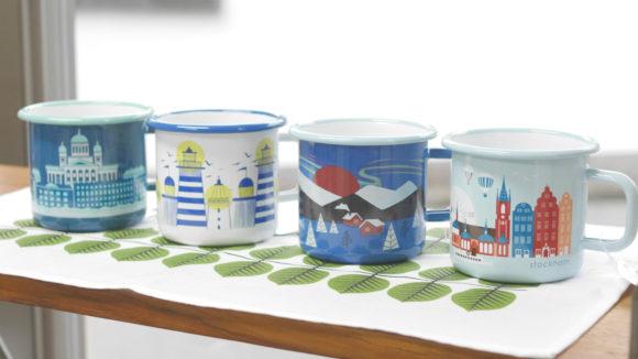 北欧の街並みや自然をモチーフしたマグカップ