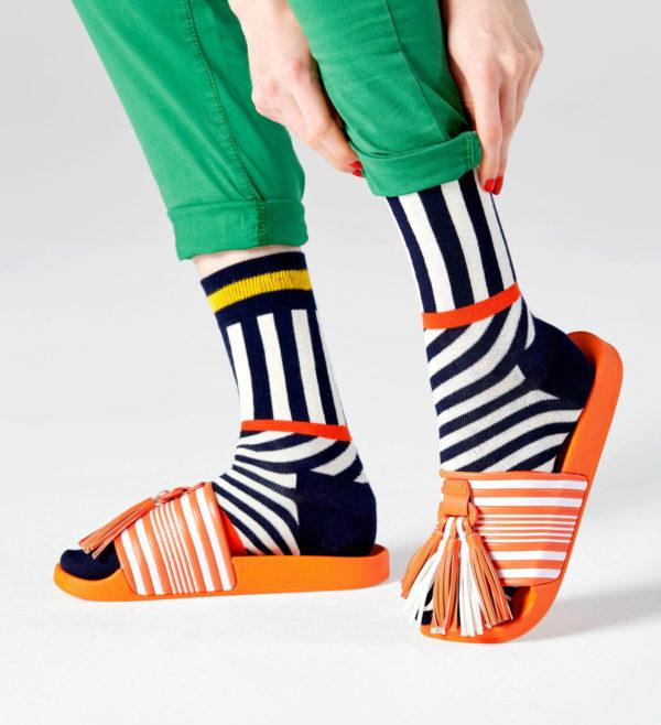 Stripes And Stripes Sock ネイビー(HappySocks ハッピーソックス)