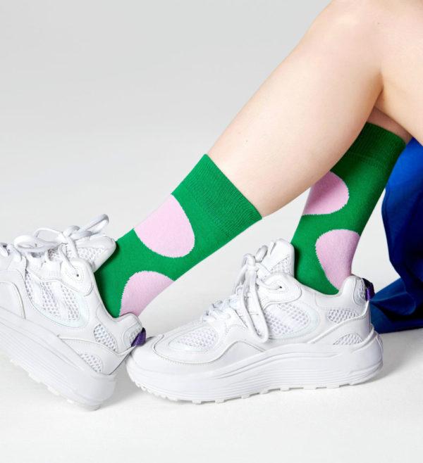 Jumbo Dot Sock グリーン(HappySocks ハッピーソックス)