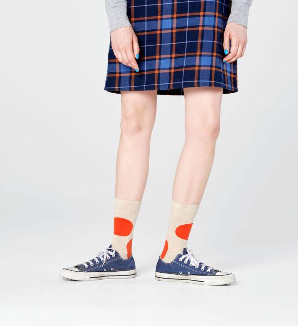 Jumbo Dot Sock ベージュ(HappySocks ハッピーソックス)