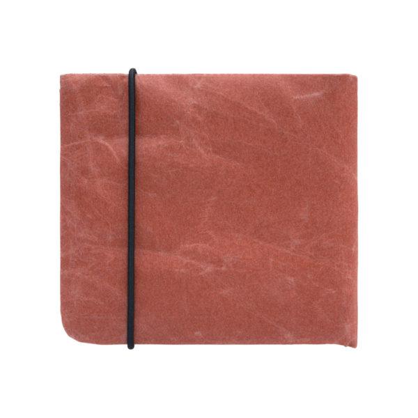 2つ折り財布 テラコッタ SIWA 紙和