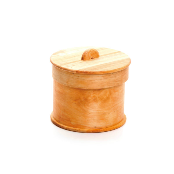 木製バスケット サークルふた付き スカンジナビスク・ヘムスロイド