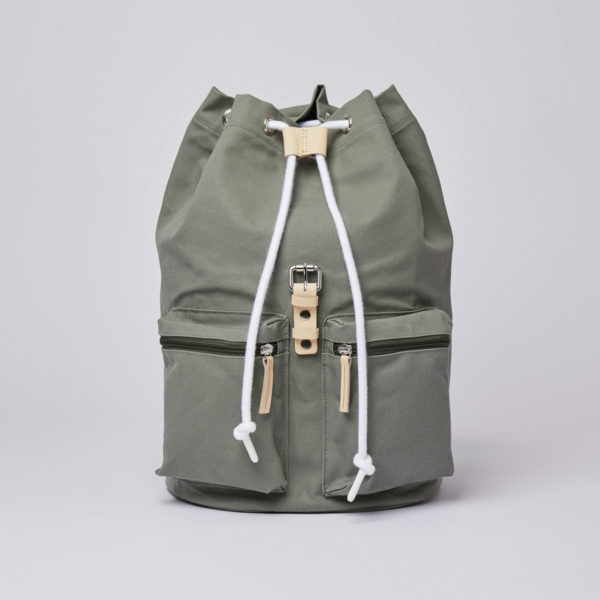 SANDQVIST サンドクヴィスト ROALD Dusty green with natural leather