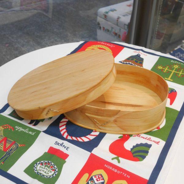 木製バスケット オーバルLふた付き スカンジナビスク・ヘムスロイド