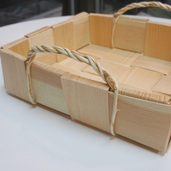 パイン材のかご フラット スカンジナビスク・ヘムスロイド