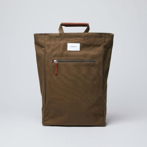 SANDQVIST サンドクヴィスト Olive with Cognac Brown Leather