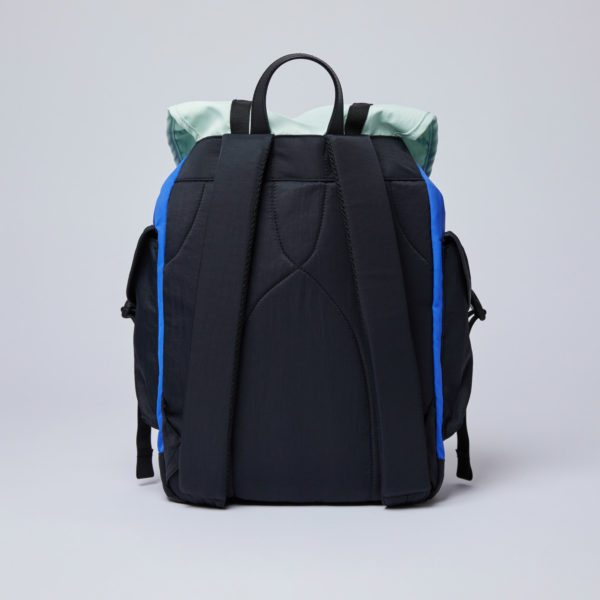 SANDQVIST サンドクヴィスト CHARLIE Multi color Blue/Green/Black leather