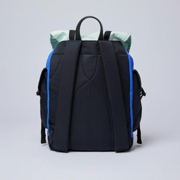 SANDQVIST サンドクヴィスト CHARLIE Multi color Blue/Green/Black leather