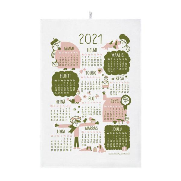 kauniste カウニステ  2021年カレンダータオル ピンク