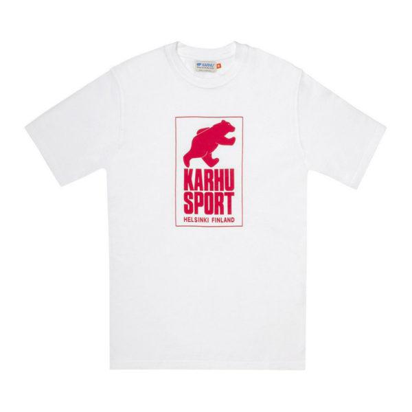 HelsinkiSport T-shirt ホワイト / レッド(KARHU カルフ アパレル)