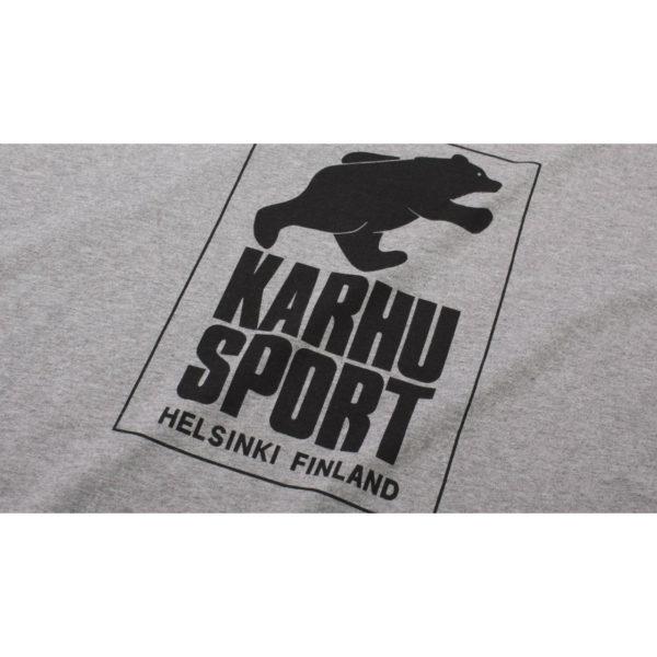 HelsinkiSport T-shirt ヘザーグレイ / ブラック(KARHU カルフ アパレル)