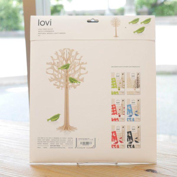 lovi ロヴィ TREE size 34cm with 3 ミニバード ライトグリーン