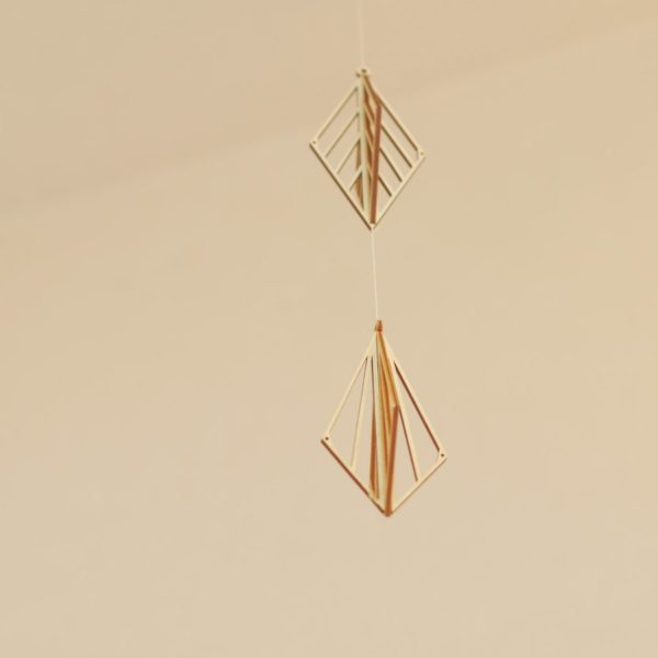 kito 木製オーナメント 定番人気の2個セット ドロップ、リーフ