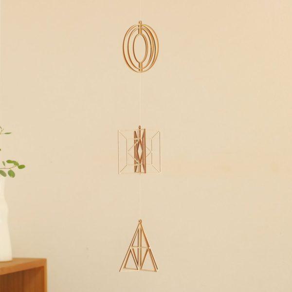 kito 木製オーナメント 3個セット プラネット、スクエア、トライアングル