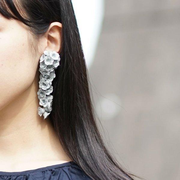 fuji L イヤリング グレー(片耳)AYUKO HISHIKAWA Paper Accessory(SIWA)