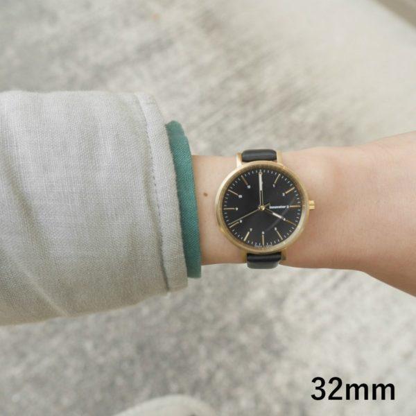 innovator イノベーター 腕時計 エンケルレザー BK/BK ENKEL LEATHER 32mm