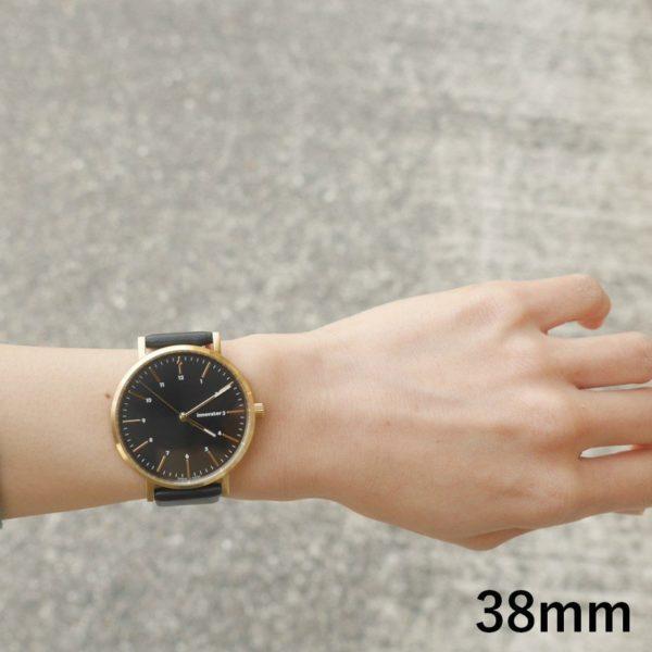 innovator イノベーター 腕時計 エンケルレザー BK/BK ENKEL LEATHER 38mm
