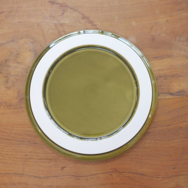 TRIP WARE フタ160 プレート16.8cm 緑釉 美濃焼 ヨシタ手工業デザイン室