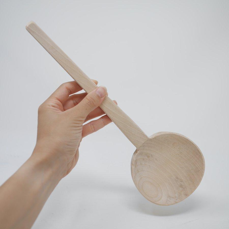 ほっこりナチュラル 木製おたま 大(29.5cm)
